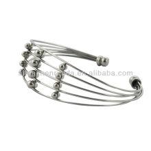 Classics stainless steel bead bracelets bangle wholesale women's men's fashion custom bracelets bangles jewellery manufacturer