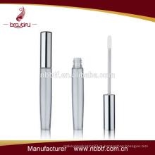Prata brilhante e claro vazio alumínio lip gloss tubo de atacado