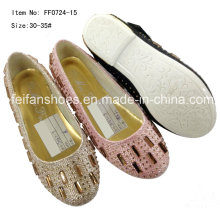 Chaussures enfants Chaussures princesse Chaussures simples Chausson fille (FF0724-5)
