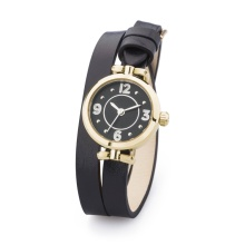 Brand Watch with Quartz Movement Leather Band for Lady