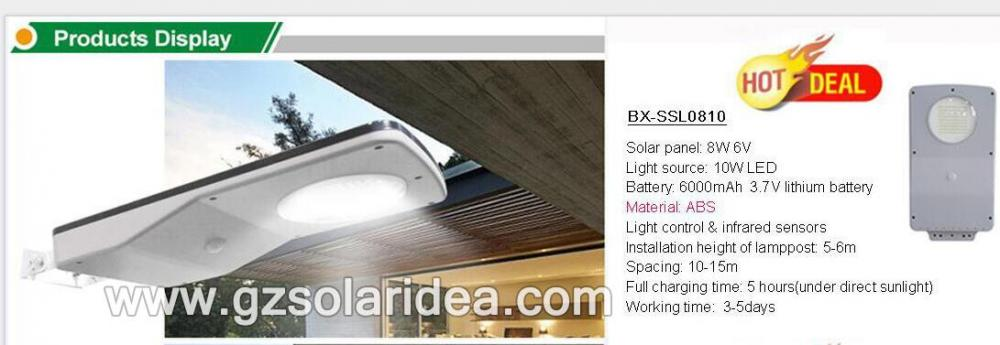 All in one Integrated Solar Steet Light 10W