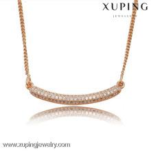 42836 Collier avec chaîne longue en cristal couleur rose doré de qualité supérieure pour bijoux de qualité
