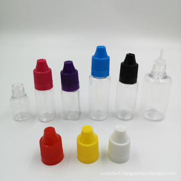 Flacons compte-gouttes liquides PET COLOR E de 15 ml