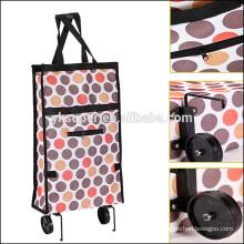 Durale beautiful folding shopping trolley bag with 2 wheels