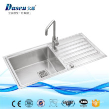 Over mount handmade drainboard sink 1000x500mm with faucet in Foshan