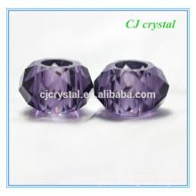 Perles de 8 * 14mm grand trou, perles rondelle grand trou pour bracelet