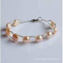 Cheap Nature Freshwater Pearl Bracelet Wholesale (EB1508-3)