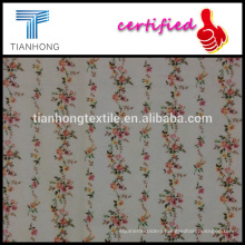 super softy touch small flower throughout printed on beige background cotton double side brushed flannel woven fabric