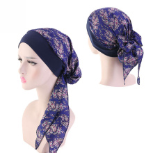 Piratenhut langes Muster sexy Headwrap Muslim