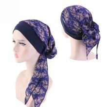 Pirata chapéu longo padrão sexy headwrap muçulmano