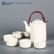 pure white elegance chinese tea set bone china tea cup and pot