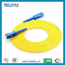 Cordon de raccordement à fibre optique Sc, câble à fibre optique Sc