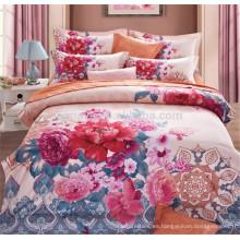 Peony Diseño de flores 100% poliéster o algodón dormitorio cama 4 piezas China