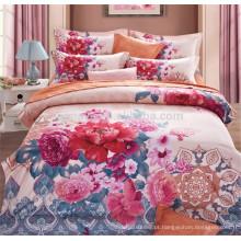 Peony Flower Design 100% poliéster ou algodão quarto cama Set 4 peças China