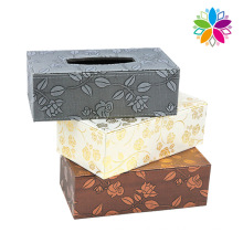 Fashion Design Leather Tissue Box (ZJH068)