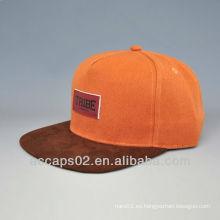 Remiendo de cuero 5 sombrero del sanpback del panel