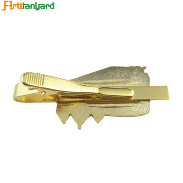 Quality Shiny Gold Pattern Tie Clip