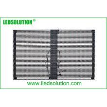 Pantalla de cortina LED transparente para exteriores P25 para instalación fija