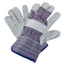 El mejor precio estándar de la calidad de la raya de soldadura Rigger guante Vaca de cuero dividido guantes