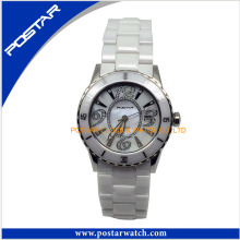 Round Dial Watch for Men with Ceramic Band
