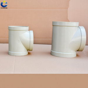 Plastic pvc PE pipe fittings cross Tee