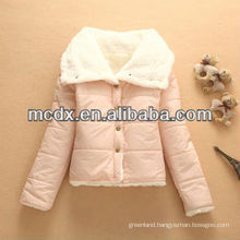 Short woman down coats for outdoor wear
