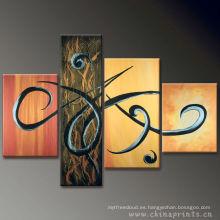 Cuadros abstractos calientes de la venta Pintura por el ACEITE