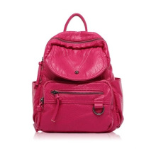 Ladies Backpack and Washed PU Bag for All Seasons