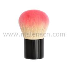 Cepillo de la cara del cepillo de Kabuki en la cerradura negra