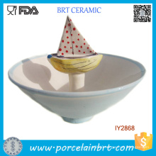 Wholesale Children Snack Ceramic Candy Boat Bowl