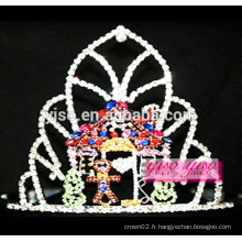 Accessoires de cheveux de mode mariée tiara de mariage en diamant