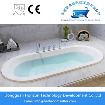 Acrylic standing bathtub oval-shaped tub
