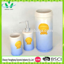 Natural Design Sea World Shell Shape Ceramic Bathroom Set