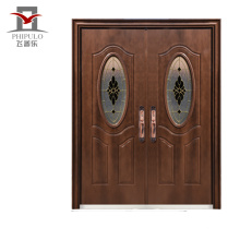 2018 puerta de entrada de metal de seguridad diseñada exteriormente