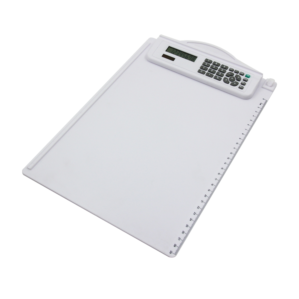 8 Digits Dual Power Clipboard Folder Calculator with Ruler