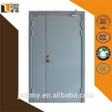 Design moderno porta à prova de fogo, fogo a porta de saída, porta blindada de madeira de aço