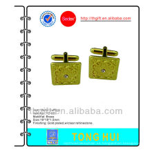 Gemelos de metal de oro con diamantes de imitación, diseños de alta calidad