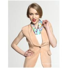 Bufanda de seda de la impresión del cuadrado del bolsillo de la oficina del caramelo del arco iris del 100%