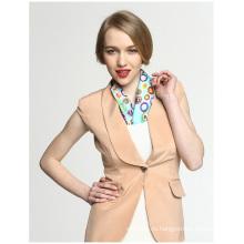 100% Шелковый Rainbow Candy Office Lady Карманная площадь печати шарф