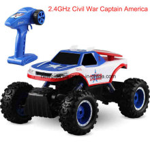 2.4GHz fuera de caminos de escalada Captain America Motor Electric Toy Car