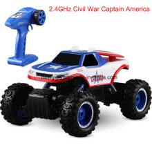 2.4GHz off-Road Escalada Capitão América Motor Electric Toy Car