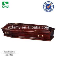 Produção de madeira do caixão barato