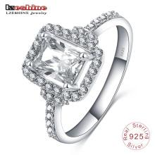 India CZ anillo de plata 925 para bodas (SRI0016-B)