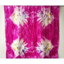 Srta. Elegante de seda paj tie-dye bufandas restaurar maneras antiguas