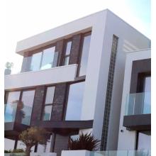 Aluminum windows and doors on the balcony