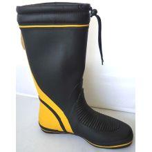 Wide Calf Ladies Rubber Half Rain Boots Size 41 Yellow Black
