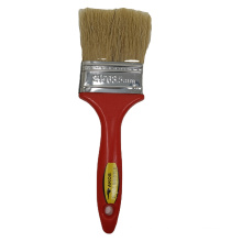 """2.5"""" White Bristles with Red Color Plastic Handle Brush Paint For Myanmar Market Paint Brush"""