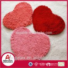 Heißer Verkauf Super Weiche Polyester Chenille Teppich Shaggy PVC Bodenbelag Tür Matten Teppich