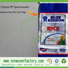 Tissu non-tissé de pp Spunbond pour la fabrication de sac de riz