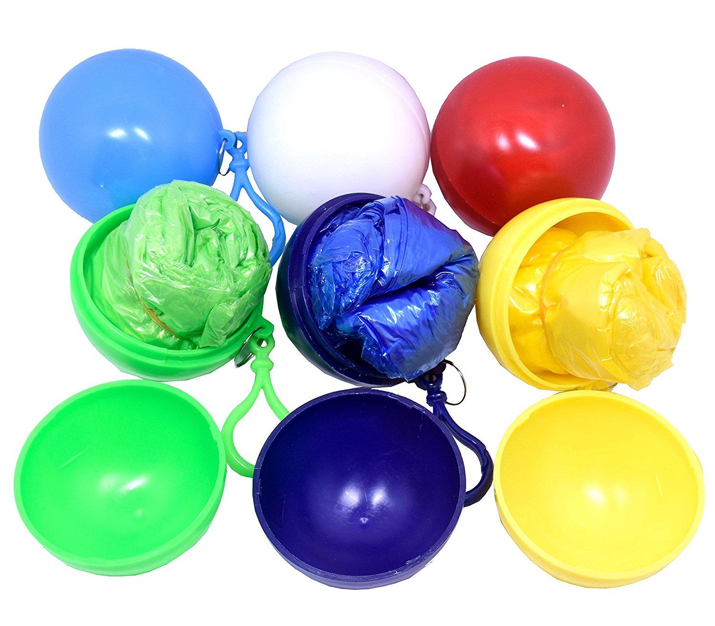 rain poncho in ball